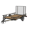 Rental store for TRAILER 4X8 W TAILGATE in Terrell TX
