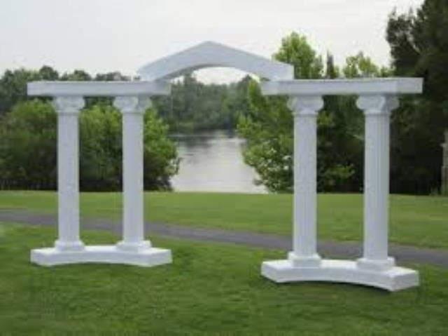 Where to find COLUMNADE ARCH 8  9  PCS WHT in Terrell