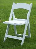 Rental store for CHAIR WHITE RESINFOLDIND W PAD in Terrell TX