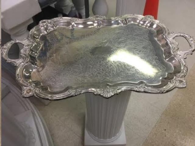 Where to find TRAY, PEWTER 21X17 W HANDL in Terrell