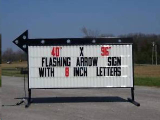 Where to find SIGN, LIGHTED ARROW in Terrell