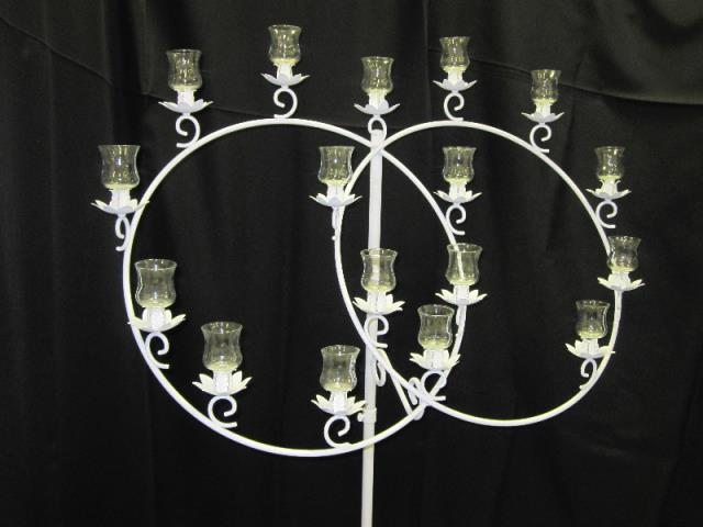 Where to find CANDELABRA, DOUBLE RING WHITE in Terrell